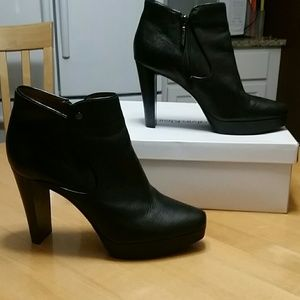 Calvin Klein black booties